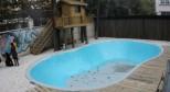 上海皇朝别墅泳池实拍