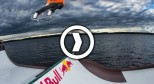 Floating Skateboard Mini Ramp on a Lake in Finland