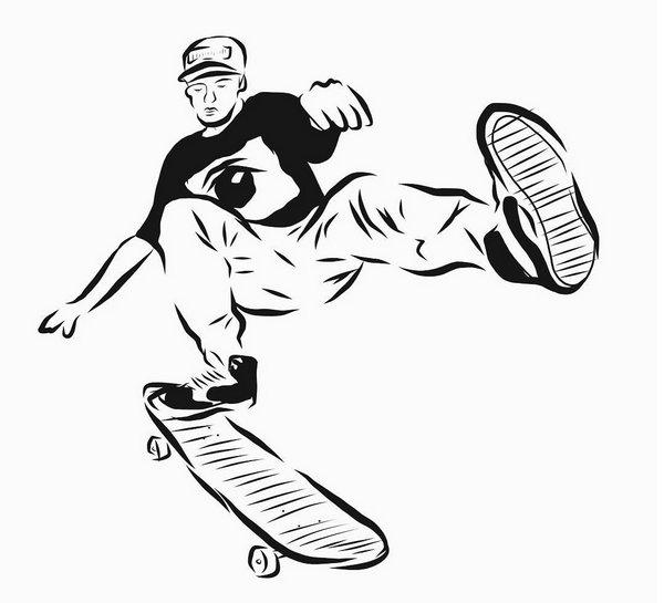 滑板社招新海报手绘