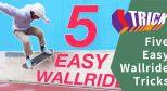 #中文字幕# 来学习最简单的五个 Wallride 动作!